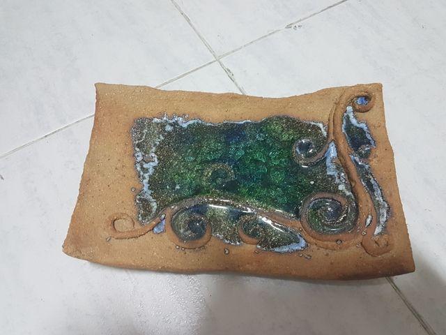Ceniceros de cristal y barro hecho a mano
