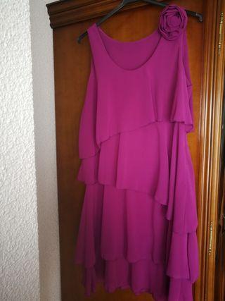 VENDO vestido violeta fluido TALLA 40