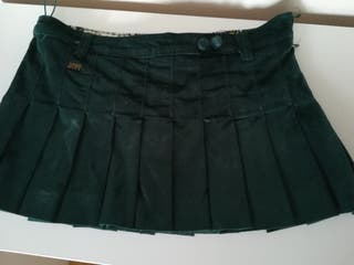 Falda verde terciopelo minifalda de miss sixty