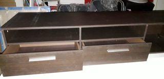 Mueble para la tele en color wengue