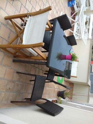 mesa de exterior con 6 sillas
