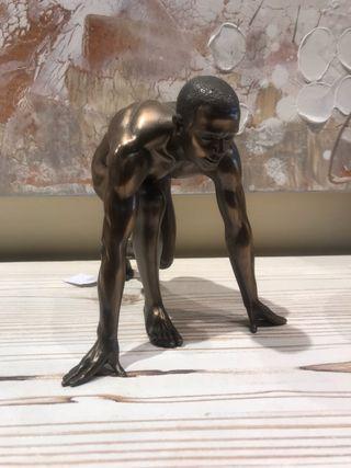 Figura decorativa bronce
