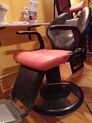 sillón peluquero-barbero