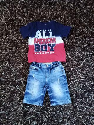 Pantalon corto y camiseta