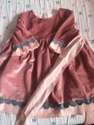 Vestido rosa pilar batanero