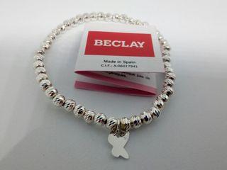 pulsera elastica plata cristian lay (nueva)