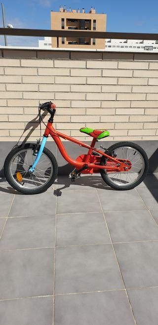 bicicleta de niño de 16 pulgadas.