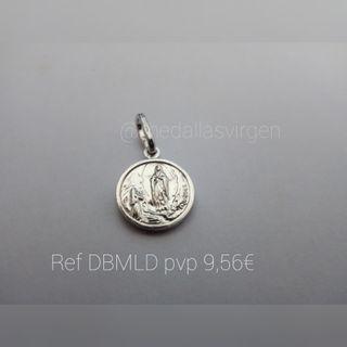 MEDALLA VIRGEN DE LOURDES PLATA 11 MM(NUEVA)