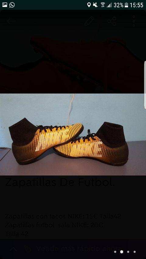 zapatillas de futbol sala.