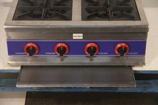 Cocina 4 fuegos sobremesa 72x80x40 cm