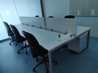 Mesa de oficina Multipuesto de 6