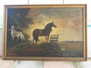 cuadro antiguo en óleo