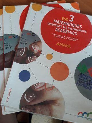 Libros Matemáticas Academicas 3Eso