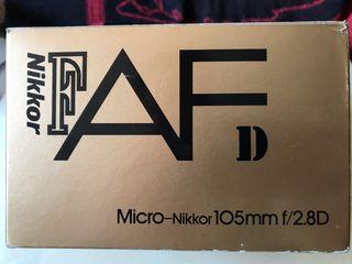 NIKON 105mm f/2.8 Macro NUEVO !!!