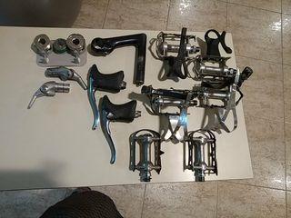Componentes de bicicleta antiguas