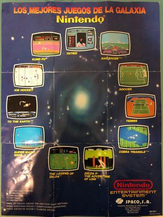 Los mejores juegos de la galaxia Póster NES SPACO