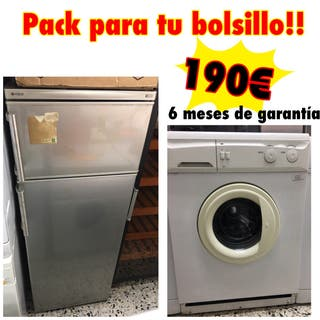 Nevera Indesit + lavadora Lynx