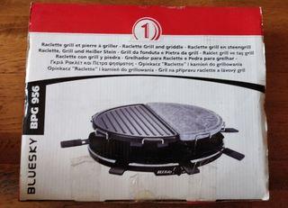Raclette / barbacoa con grill y piedra