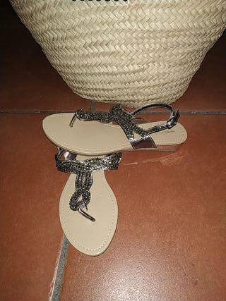 Sandalias Blanco sin usar