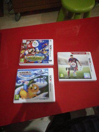 Nintendo 3DS juegos lote