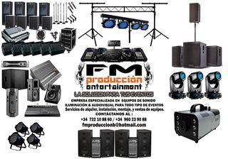 DISCO MOVIL, DJs, EQUIPO SONIDO,LUCES, IMAGEN ETC