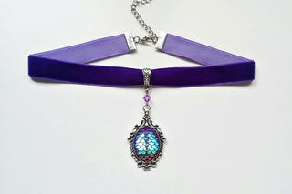 gargantilla gotica violeta ursula sirena dragon