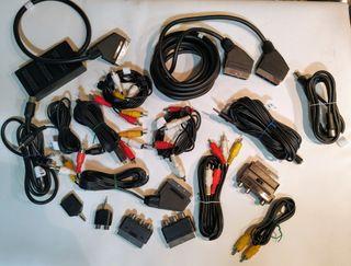 17 cables audio y video 20 eur!