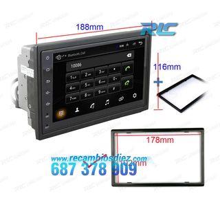 "RADIO NAVEGADOR ANDROID 2DIN GPS 7"" TÁCTIL BLUETOO"