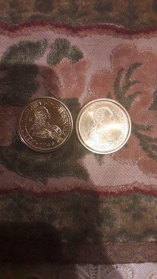 monedas son de plata