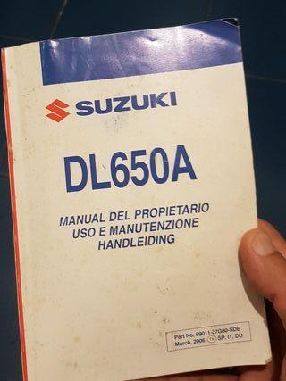 vendo manual del propietario de la V strom 650