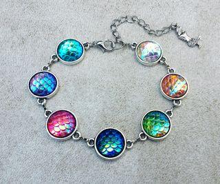 pulsera marina escamas de colores sirena dragon