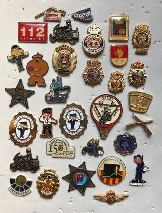 Pins insignias llaveros POLICÍA EJÉRCITO BOMBEROS