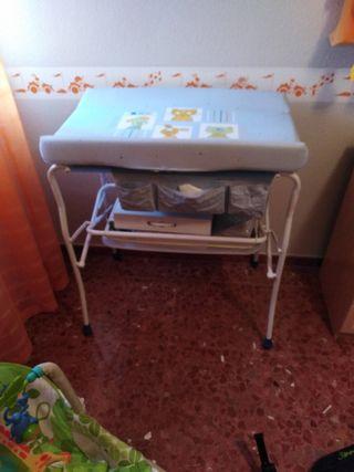 bañera cambiador para bebe