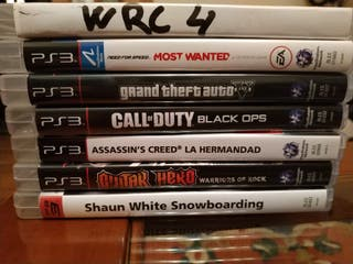 PS3 Slim 320Gb +mando +juegos +Guitar Hero