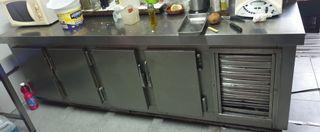 ¡ganga! bajo mostrador de frio 4 puertas