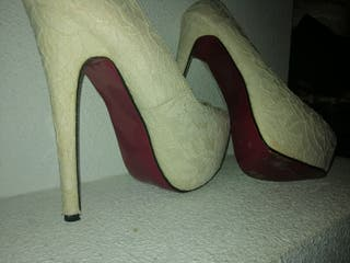zapatos tacon muy altos 39