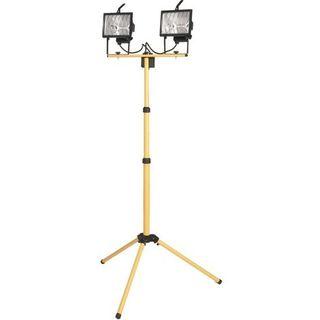 Doble proyector halógeno con trípode telescópico