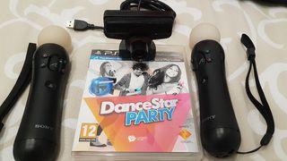 dance star party ps3 motion controller y camara