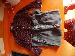 pantalon y camisa niño 2 años