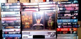 Reproductor VHS + 155 películas.