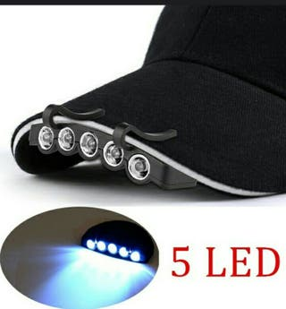 Cartucho 5 luces led para gorras