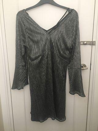 Silver smock dress