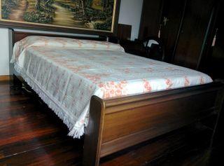 conjunto muebles habitaciòn de matrimonio nogal