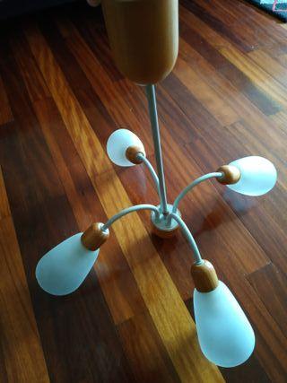 Lámpara techo con 4 bombillas led