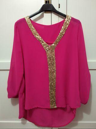 Blusa rosa fucsia