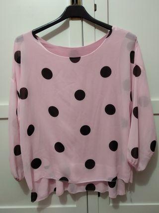 blusa de lunares