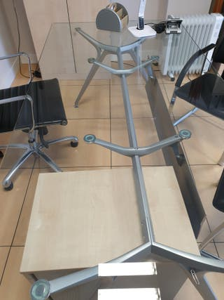Mesa despacho cristal de segunda mano en WALLAPOP