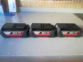 lote de baterías bosch de 36 v