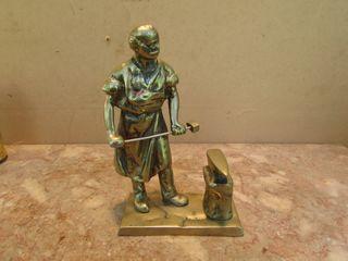 Figura herrero bronce antigua forja