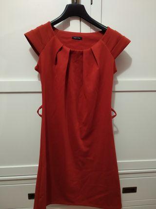 vestido color caldera